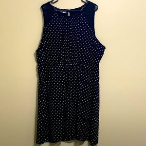Black & White Polka Dot Dress; Maurices Plus Sz 3x